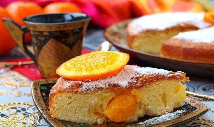 шарлотка с мандаринами рецепт с фото