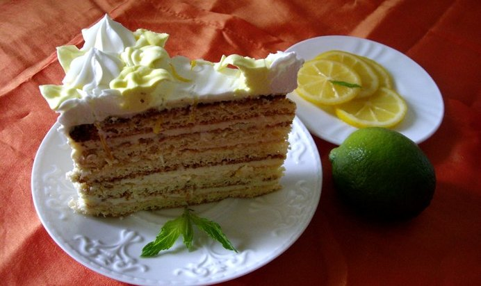Торт лимонный пошаговый рецепт кремом