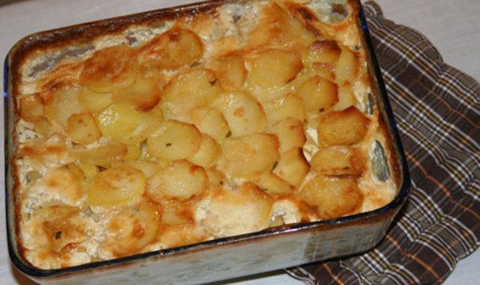 Картофельная запеканка простой рецепт фото