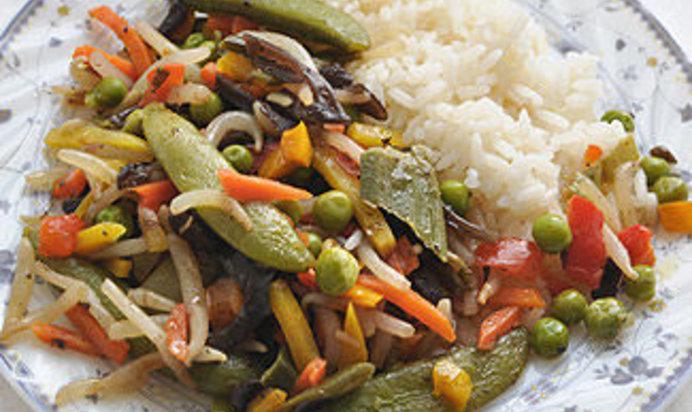 Черный рис с овощами рецепт с пошагово