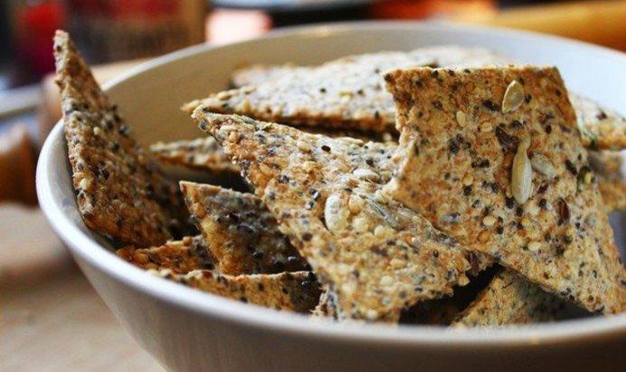Простой Рецепт крекеров с семечками пошагово с фото