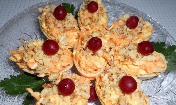 закуска в вафельных корзинках рецепт с фото