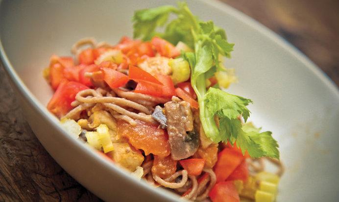 Гречневая лапша рецепты с курицей и овощами соусом терияки