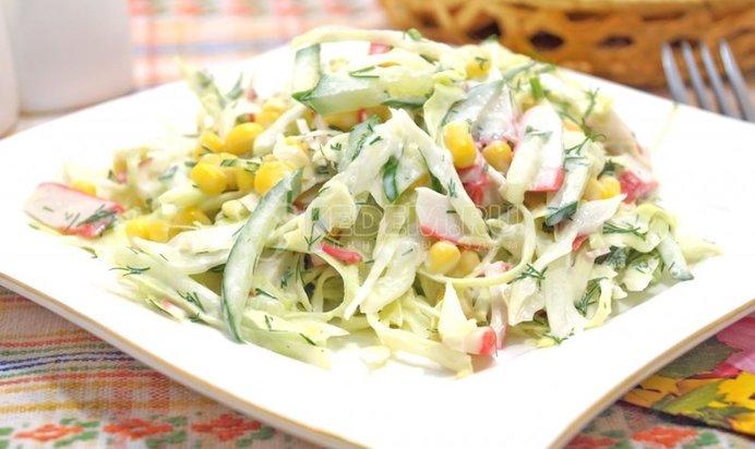 Салаты с капустой рецепты с фото пошагово