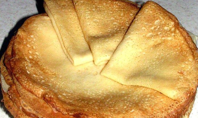 Блинчики из пшеничной муки рецепт