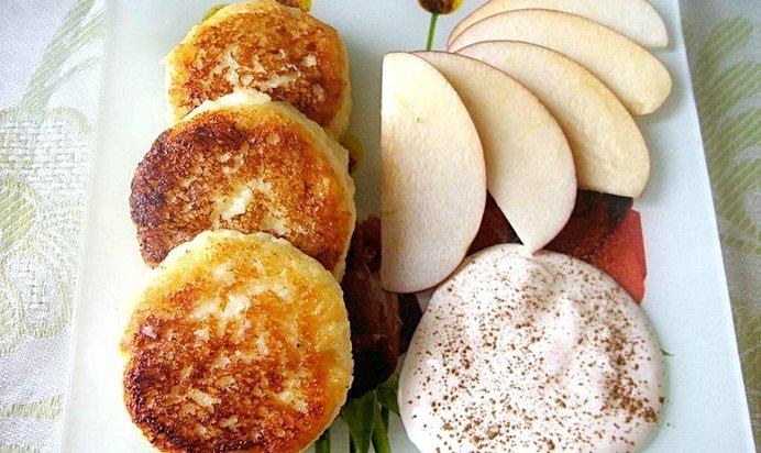 Сырники из творога с яблоком рецепты с пошагово