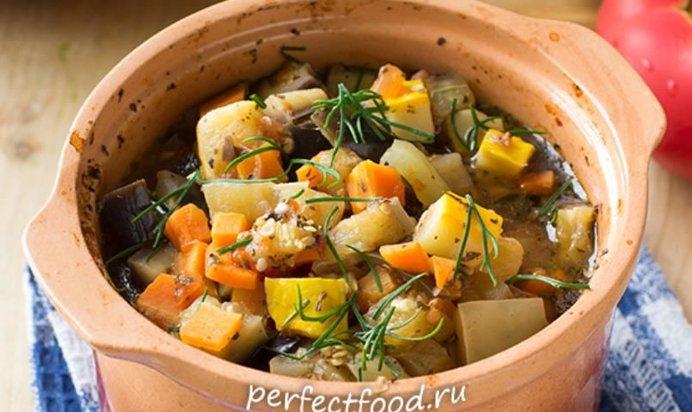 Овощи в горшочках с мясом в духовке рецепты с фото пошагово