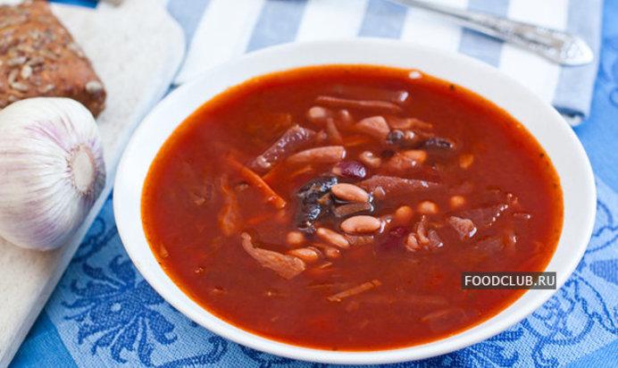 Рецепт постного борща с фасолью
