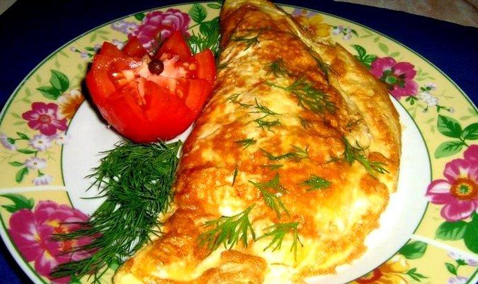 Омлет с начинкой рецепт на сковороде