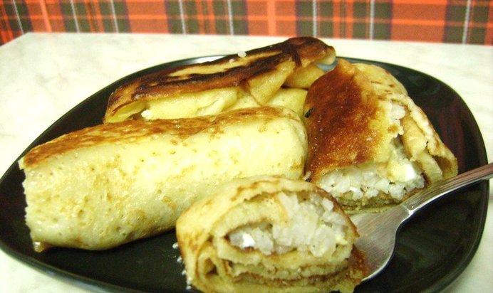 Блины с рисом и яйцом рецепт с пошаговым