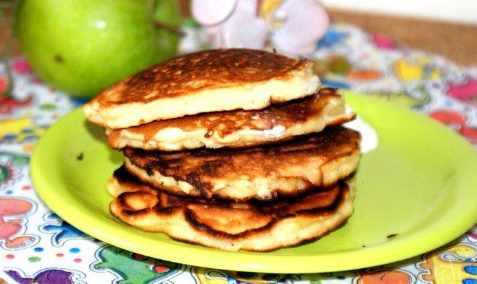 Оладьи с яблоками рецепт с фото пошагово