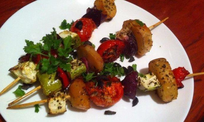 Овощной шашлык на шпажках рецепты