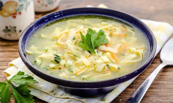 Суп куриный с домашней лапшой рецепт
