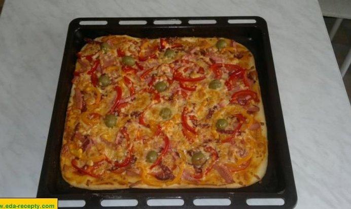 Пошаговая пицца домашнего приготовления