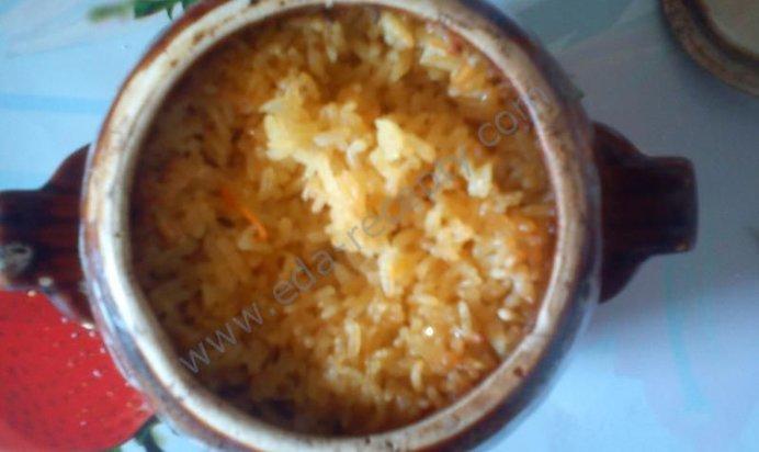 Плов в горшочке с курицей рецепт с пошагово