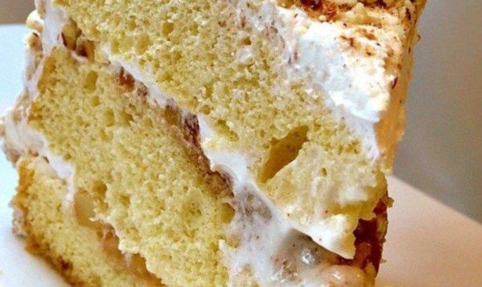 Бисквитный торт с маскарпоне рецепт с фото