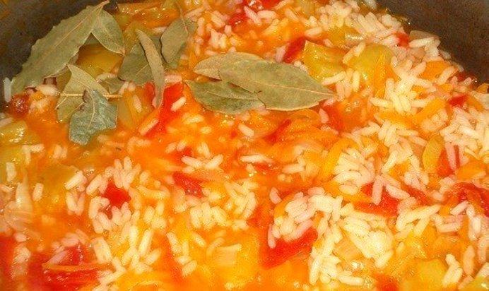 Рис с овощами без мяса рецепт пошагово