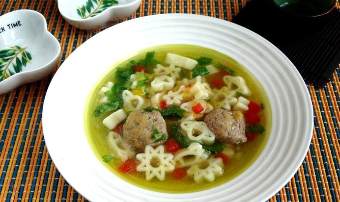 Суп с фрикадельками с макаронами рецепт пошагово с фото
