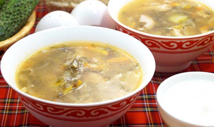 Простой суп с щавелем рецепт