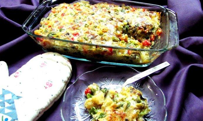 Приготовление овощей в духовке пошаговый