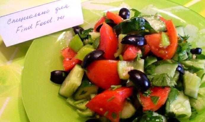 Салат из оливок или маслин рецепт с