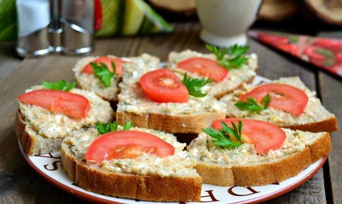 Икра трескиы бутерброды