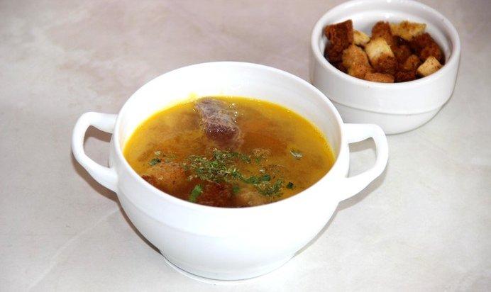 Гороховый суп из говядины в мультиварке пошаговый рецепт с