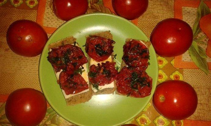 Запеченные помидоры с сыром с пошагово в