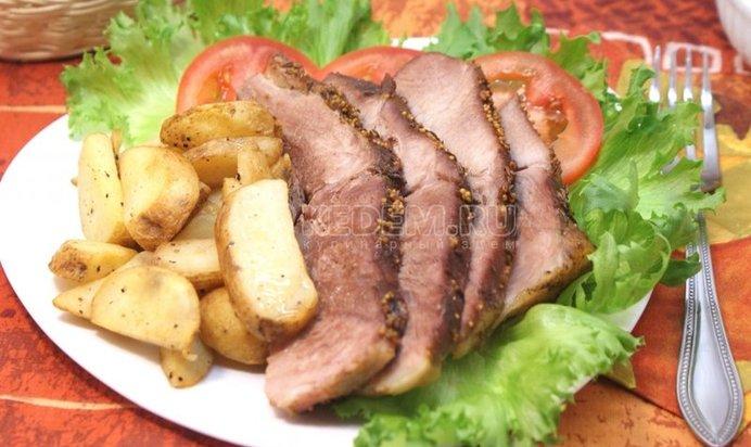 Мясо запеченное рецепт фото пошагово