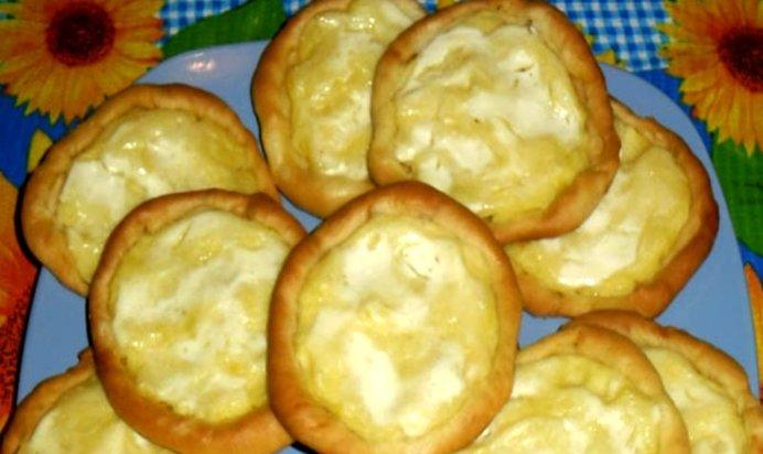 Шаньга с творогом рецепт с фото пошагово