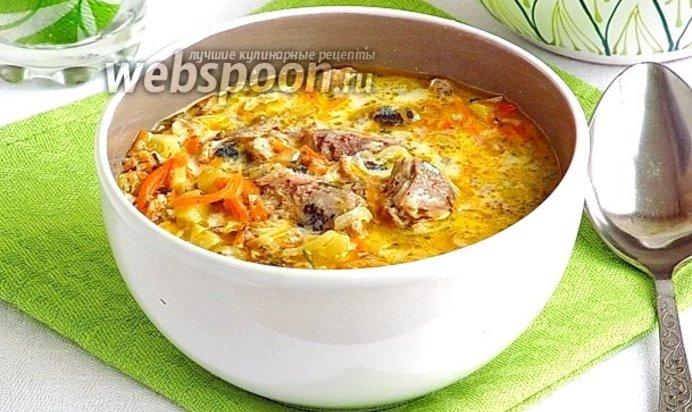Суп сырный с консервами рыбными рецепт