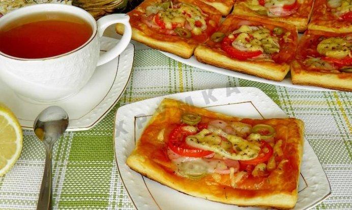 Пицца из слоеного пресного теста