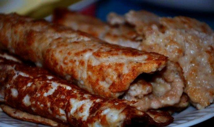 Рецепт домашних блинчиков с мясом рецепт пошаговый