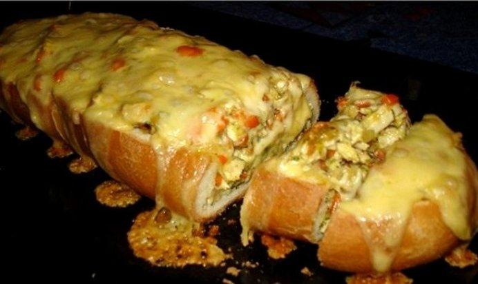 Запеченный батон с сыром в духовке рецепт с пошагово