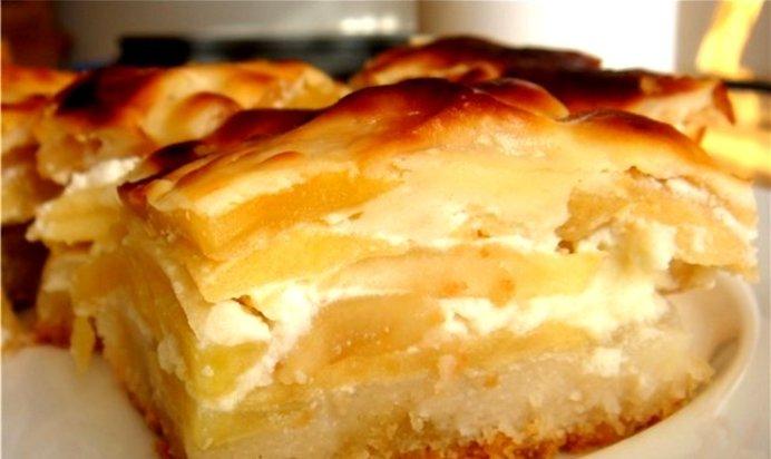 Шарлотка с яблоками рецепт со сметаной в духовке рецепт с фото пошагово