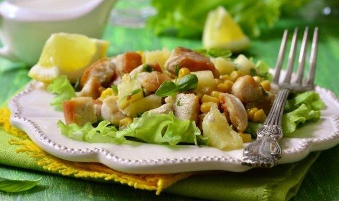 Салаты рецепты с кукурузой и курицей