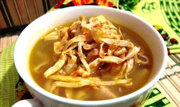 Суп с яичными блинчиками рецепты