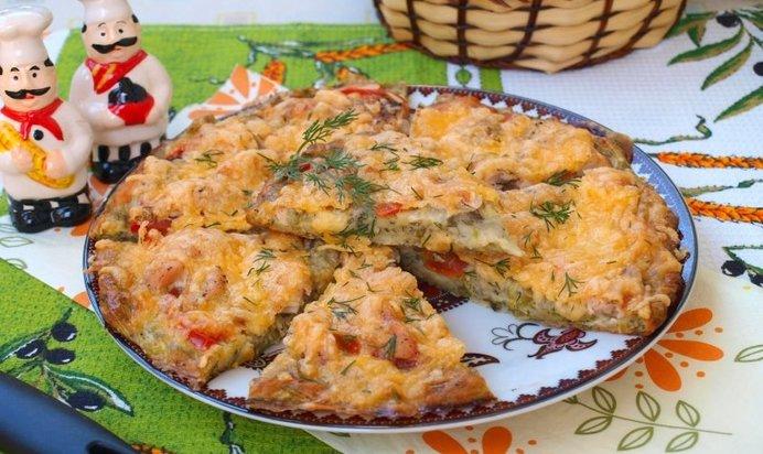 Пицца с курицей и помидорами рецепт пошагово в духовке