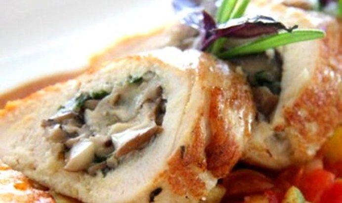 Куриная грудка фаршированная грибами и сыром рецепт