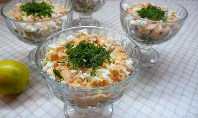 Картинки по запросу салат из печени минтая рецепт