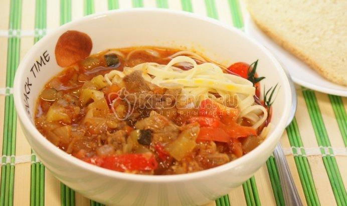 Спагетти с подливкой рецепт с фото