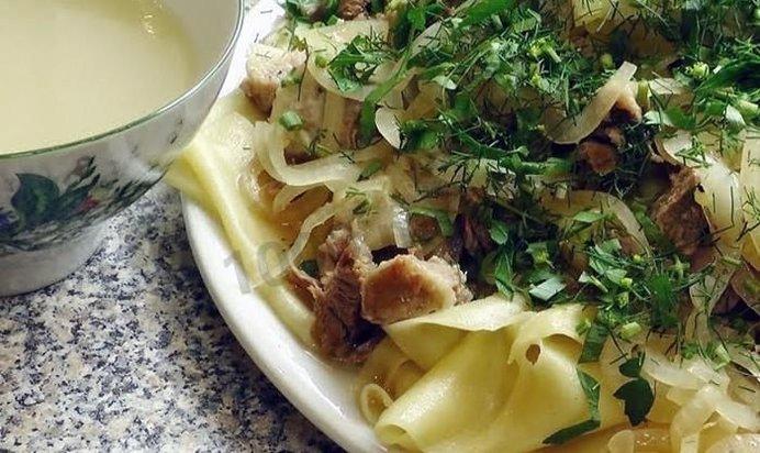Бешбармак из говядины пошаговый рецепт с с картошкой