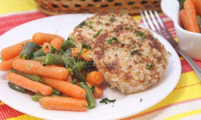 Рецепт рыбных котлет с рисом