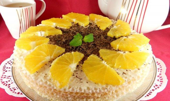 салат торт с вафельными коржами рецепт