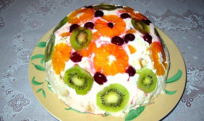 Фруктовый торт рецепт с фото пошагово в домашних условиях