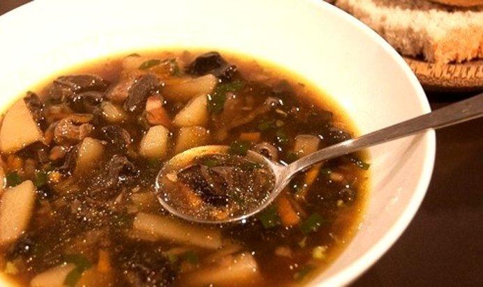 Суп из белых сушеных грибов рецепты