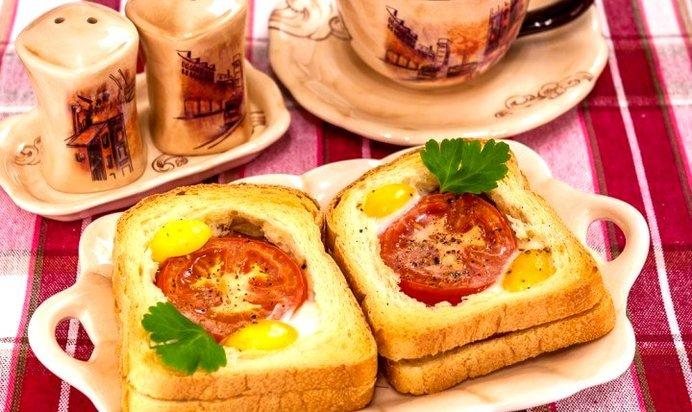 Горячие бутерброды на завтрак рецепт