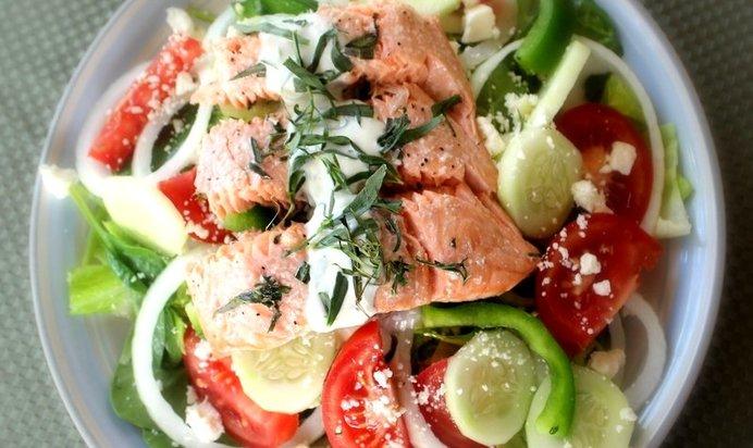 Салат с семгой пошаговый рецепт с фото