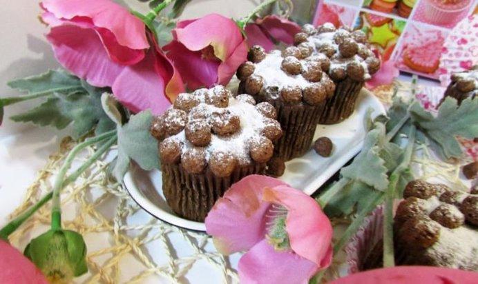 Кексы с шоколадных шариков
