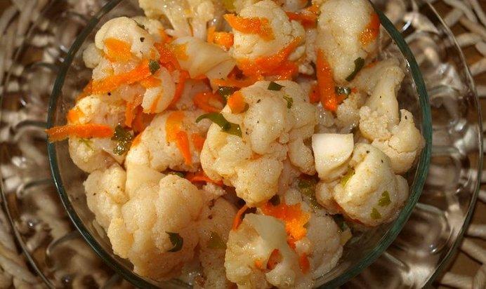 Засолить цветную капусту быстро и вкусно